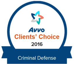 Avvo 2016 Clients Choice Criminal Defense